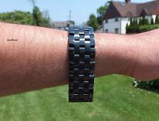 SALE.. 18mm PVD Black SOLID Heavy Stainleee Steel Watch Band,Bracelet, Men Woman