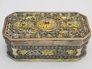 TABATIERE – DOSE SILBER / GOLD UM 1780-1800