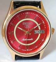 Vintage Seiko 5 Automatic Movement No 6309 Japan Made  Men's Wrist Watch