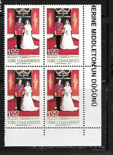 TURKISH CYPRUS Sc 711 NH BLOCK OF 4 OF 2011 - ROYAL WEDDING