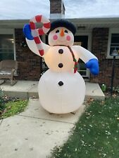 Christmas Inflatable 8 Foot Snowman Blow Up Yard Decor Gemmy Airblown
