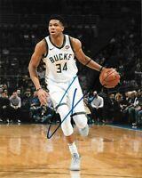 Giannis Antetokounmpo Autographed Signed 8x10 Photo ( Bucks ) REPRINT ,