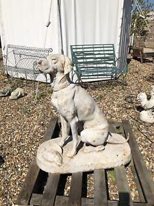 Cast Iron Sitting Hound Large Cast Iron Seated Dog Hunting Dog