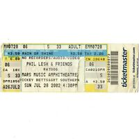 PHIL LESH BOB WEIR DICKEY BETTS Concert Full Ticket Stub 2002 GRATEFUL DEAD ABB