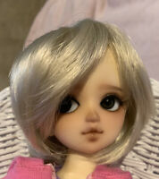 BJD Wig MSD 7-8 Bob Gray Blonde Short Wig Bangs Male Female WIG ONLY NO DOLL