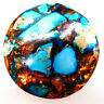 Sea Sediment Jasper & Gold Copper Bornite Stone Pendant Bead Jewelry 40*40*6mm