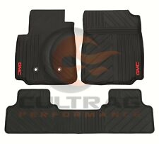 2015-2018 GMC Canyon Crew Cab GM Front & Rear All Weather Floor Mats Black