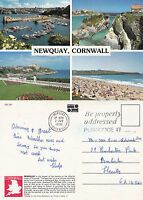 1991 MULTI VIEWS OF NEWQUAY CORNWALL COLOUR POSTCARD