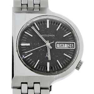 "1971 Bulova Accutron Date & Day ""BD"" Asymmetrical D Watch 2182 Running 100% Orig"