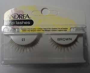 Andrea's Strip Lashes Fashion Eye Lash Style 21 Brown - (Pack of 4)