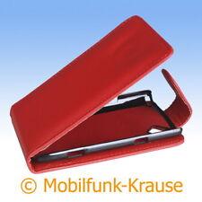 Flip Case Etui Handytasche Tasche Hülle f. Samsung Wave (Rot)