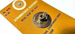 """Strombecker Bevel Gear Set 4.5:1 ratio #8429 for 1/8 axle asd 3/32"""" pinion."""