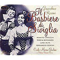 """ROSSINI """"IL BARBIERE DI SIVIGLIA"""" (Capecci,Berganza,Alva,Corena/Giulini)GALA 2CD"""
