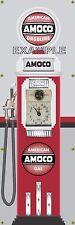 AMOCO STATION AMERICAN GAS PUMP OLD TOKHEIM CLOCKFACE BANNER SIGN MURAL ART 2X6