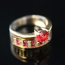 925 Sterling Silver Handmade Gemstone Turkish Ruby Ladies Ring Size 8