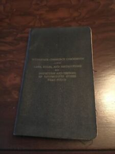 ICC Laws, Rules, And Instructions 1959 Locomotive Inspection Laws Black Cover