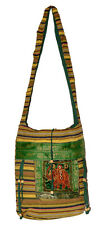 Cotton Ethnic Embroidered Work Elephant Tote Hippie Sling Cross Body Bag
