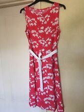 Orange Floral Retro Summer Dress Beach Festival medium/12 never worn