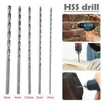 Extra Long HSS Drill Bit Straight Large Twist Shank Plastic/metal/wood Set