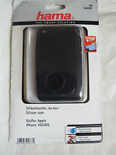 Hama 104507 Black Leather Sleeve Case Cover iPhone 3G 3GS + cloth Protector
