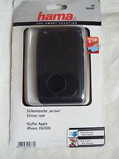 Hama 104507 housse en cuir noir case cover iPhone 3G 3GS + chiffon protecteur