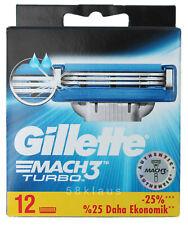 12x Gillette Mach3 Turbo Klingen - Rasierklingen / 12er Pack OVP razor blades