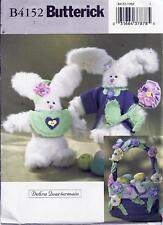 Butterick 4152 Sewing Pattern for Girl & Boy Easter Bunnies & Basket