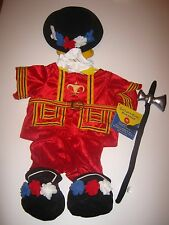BUILD-A-BEAR BEEFEATER TOWER GUARD COSTUME OUTFIT UK Exclusive London