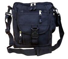 Mens Military Combat Army Travel Shoulder Bag Surplus Zip Messenger Pouch Black