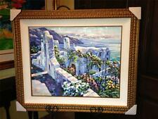 """""""RHODES(GREECE)"""" by HOWARD BEHRENS. HEAVILY EMBELLISHED, LE SERIGRAPH ON CANVAS"""