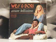"""WESS & DORI ( GHEZZI ) - AMORE BELLISSIMO / LA SOLA COSA 45 GIRI 7"""" EX CNAI 9344"""