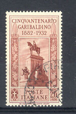 REGNO 1932 GARIBALDI PO 2,55LIRE+50C  USATO SPLENDIDO