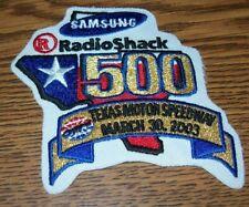 TEXAS RADIOSHACK 500 MARCH 30 2003 NASCAR OLD PATCH