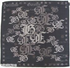 "NWOT Authentic JOHN GALLIANO ""GAZETTE"" Print Silk Scarf Foulard"