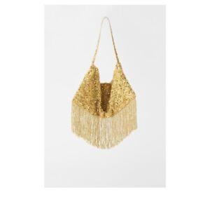 NWT Zara beaded bucket bag MSRP $56