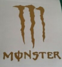 2 MONSTER VINYL STICKER, CAR DECAL WINDSCREEN Bumper sticker gold