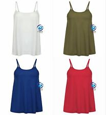 Women's Ladies Cami Sleeveless Swing Vest Top Strappy Flared Camisole Camis
