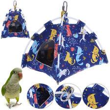 Cartoon Parrot Hut Hamster Hanging Bed House Cage Tent Pet Bird Bunk Hammock