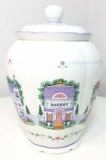 The Lenox Village Cookie Jar Canister Bakery 2005 Retired Round Large Ginger Jar