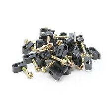 "30 TV Cable Wall Mounting Flex Clips Black 1"" Screw RG6 Coax Ethernet Wire Lot"