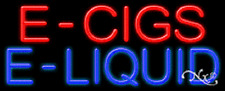 "NEW ""E - CIGS E-LIQUID"" 32x13 REAL NEON SIGN w/CUSTOM OPTIONS 11391"