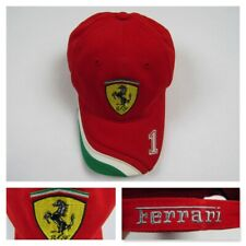 Ferrari Baseball Hat Official Licensed Product Cap Red Strap Back Embroidered