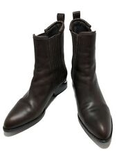 ALEXANDER WANG 'ANOUK' BROWN LEATHER BOOTS, 37, $795