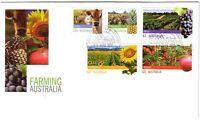 2012 FDC Australia. Farming Australia. High values. Various FDI postmarks