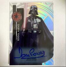 TOPPS STAR WARS DARTH VADER AUTOGRAPHED CARD GENUINE RARE FREE SHIPPING FROM JPN
