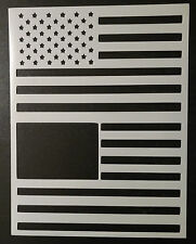 "USA US American Flag Larger 8.5"" x 11"" Stencil FAST FREE SHIPPING"