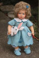 "Lenci Bettina Reissue 14"" Doll & Bunny Rabbit W/Tags Mint"