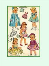 "1992 Doll Clothes Pattern for 16"" 17"" Chubby Dolls Baby Sue Saucy Walker Posie"