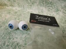 cp-951  Tallina's Acrylic Doll Eyes BLUE -18MM New Old Stock- 1 pair