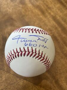 WILLIE MAYS SIGNED AUTOGRAPHED  OFFICIAL MAJOR LEAGUE BASEBALL w / 660 HR
